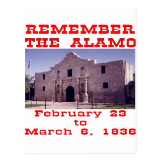 Remember The Alamo  #001 Postcard