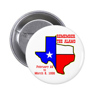 Remember The Alamo 002 Pinback Buttons