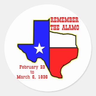 Remember The Alamo  #002 Classic Round Sticker