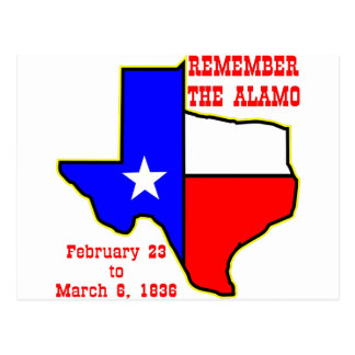 Remember The Alamo  #002 Postcard