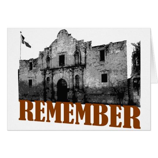 Remember the Alamo Card