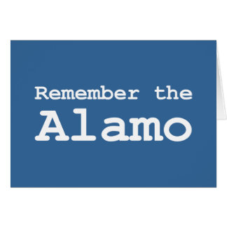 Remember the Alamo Gifts Card