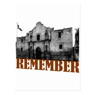 Remember the Alamo Postcard