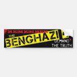 Remember the Benghazi 4 Car Bumper Sticker