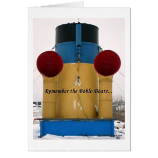 Remember The Boblo Boats - Ste. Claire stacks Greeting Card