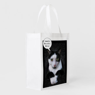 Remember the Cat Food (customizable) Grocery Bag