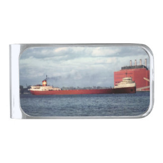Remember the Crew of the Edmund Fitzgerald Silver Finish Money Clip