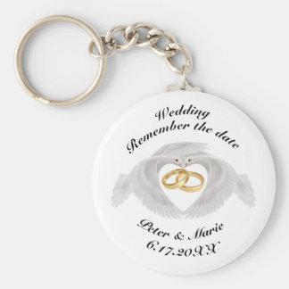 Remember The Date Wedding Keychain