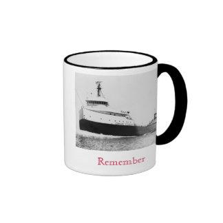 Remember: The Edmund Fitzgerald Ringer Coffee Mug