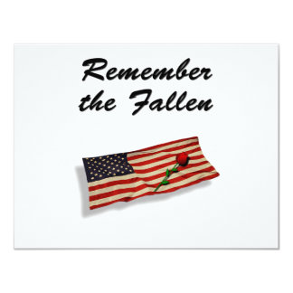 Remember The Fallen Card