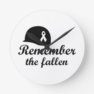REMEMBER THE FALLEN ROUND WALL CLOCKS