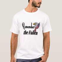 Remember the Fallen Custom Name On Back T-Shirt
