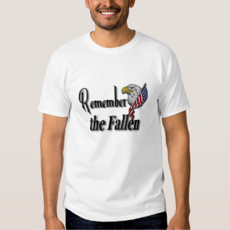Remember the Fallen Custom Name On Back Tee Shirt