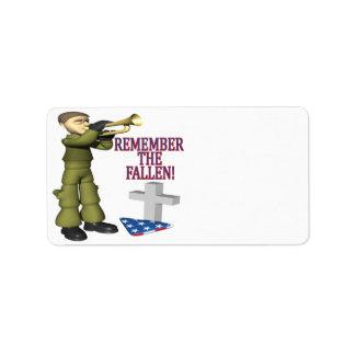 Remember The Fallen Label