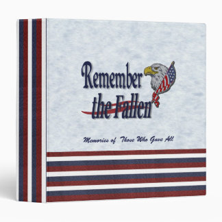 Remember the Fallen Memory Book Vinyl Binders