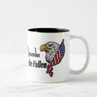 Remember the Fallen Patriotic Military Two-Tone Coffee Mug