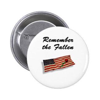 Remember The Fallen Pinback Button