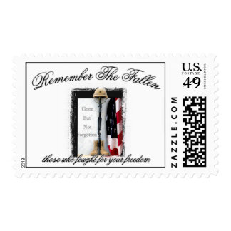 Remember The Fallen Postage Stamp