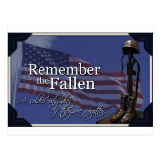 Remember the Fallen Postcard