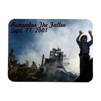 Remember The Fallen Sept. 11, 2001 Rectangular Photo Magnet