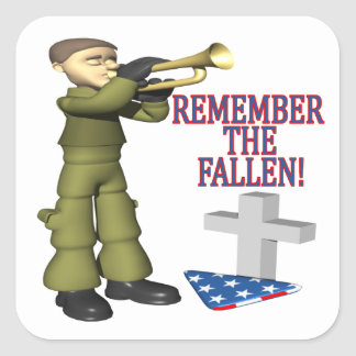 Remember The Fallen Square Sticker