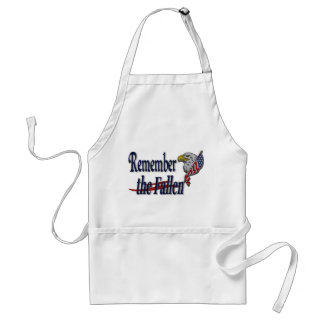 Remember the Fallen with Eagle and Flag Adult Apron