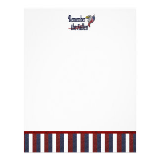 Remember the Fallen with Eagle and Flag Letterhead