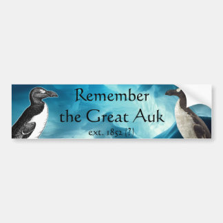 Remember the Great Auk Bumper Sticker