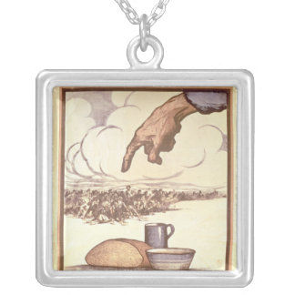 Remember the Hungry!, poster, 1921 Square Pendant Necklace