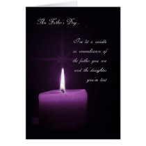 Remember the Loss of a Daughter on Father's Day Card