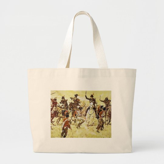 Remember the River Raisin by Ken Riley Large Tote Bag