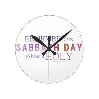 Remember the Sabbath Day 10 Commandments Clock