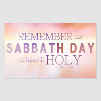Remember the Sabbath Day 10 Commandments Sticker