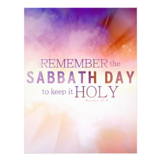 Remember the Sabbath Day Commandment Stationery