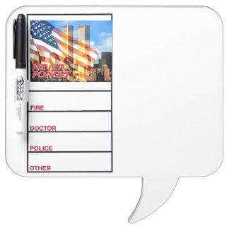 Remember The September 11, 2001 Terrorist Attacks Dry Erase Board