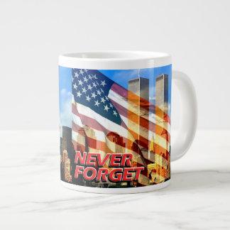 Remember The September 11, 2001 Terrorist Attacks Giant Coffee Mug