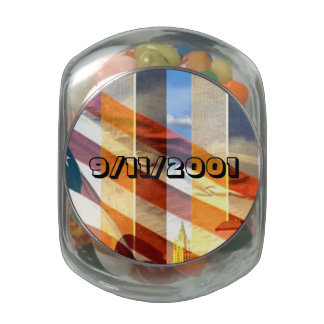 Remember The September 11, 2001 Terrorist Attacks Glass Candy Jar