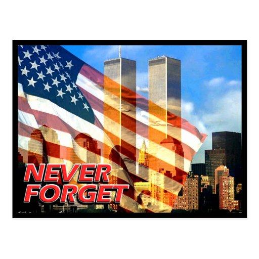 Remember The September 11, 2001 Terrorist Attacks Post Card