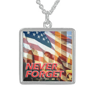 Remember The September 11, 2001 Terrorist Attacks Sterling Silver Necklace