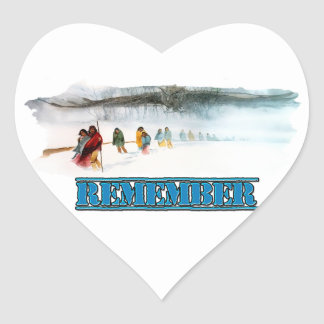 Remember the Trail of Tears Heart Sticker