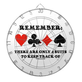 Remember: There Are Only 4 Suits To Keep Track Of Dartboard