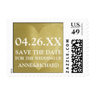 remember this day... save the date golden love postage