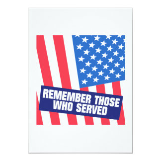 Remember Those Who Serve Card