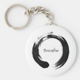 Remember to Breathe! Basic Round Button Keychain