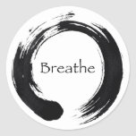 Remember to Breathe! Classic Round Sticker