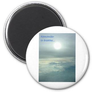 Remember to breathe refrigerator magnet