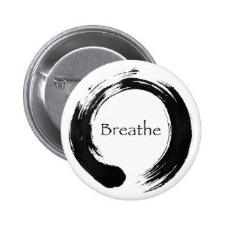 Remember to Breathe! Pinback Button