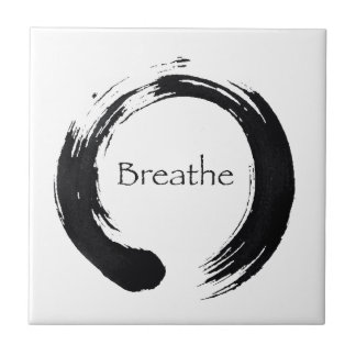 Remember to Breathe Small Square Tile