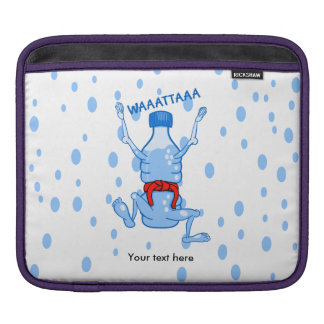 Remember to drink water cartoon water bottle iPad sleeve