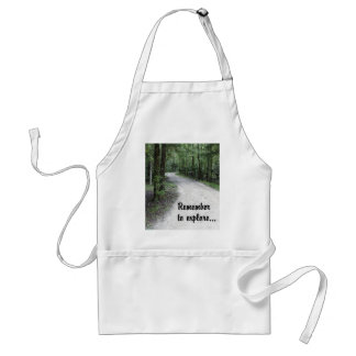 Remember to Explore Adult Apron